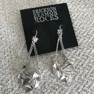 Erickson Beamon Rocks Silver Crystal Earrings